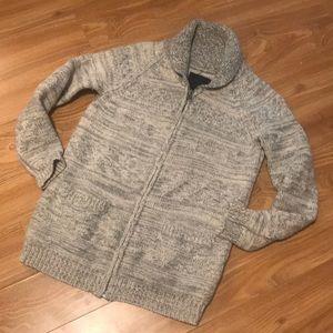Tna sea to sky lambs wool sweater sz xs grey